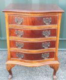 Small Mahogany Serpentine Chest of Drawers
